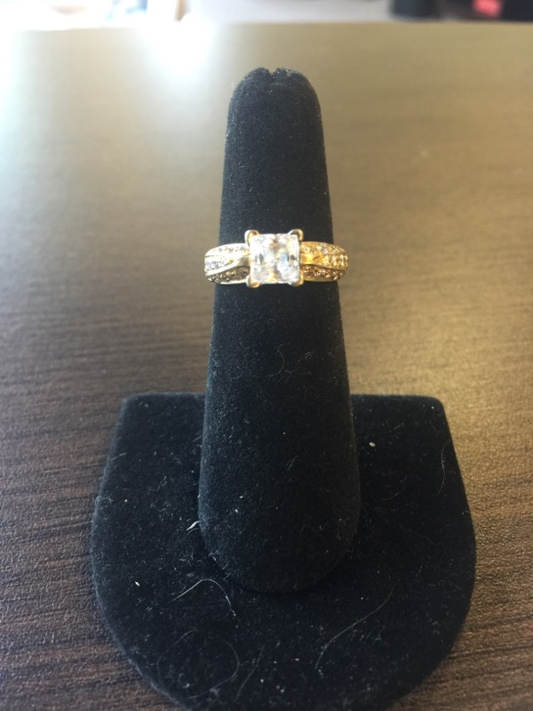 Lady's Diamond Ring Mount 24 Diamonds .48 Carat T.W. 14K YG 5g CZ Center Stone