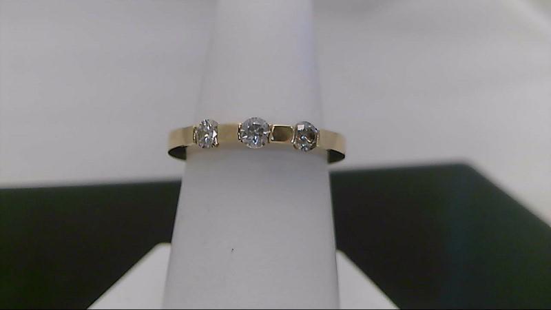 0.33 CTTW Yellow Gold Round Diamond Ring