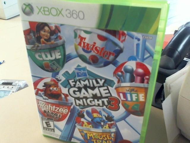 FAMILY GAME NIGHT 3 XBOX 360