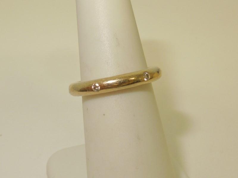 Lady's Diamond Fashion Ring 6 Diamonds .12 Carat T.W. 18K Yellow Gold 6.4g