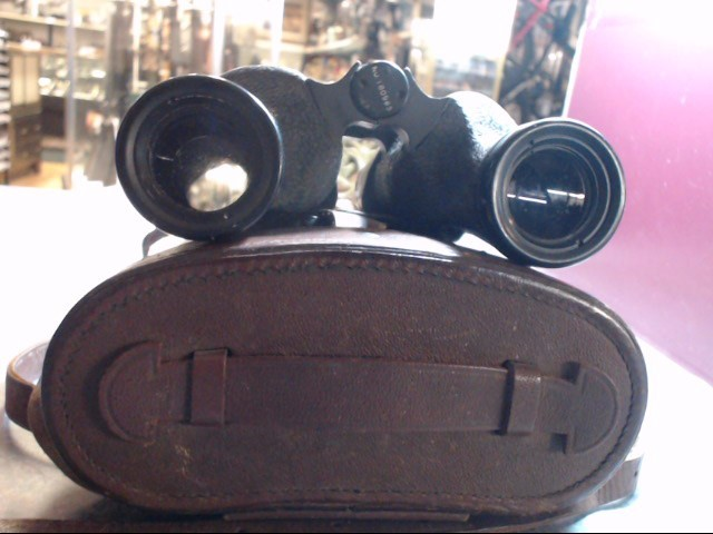 VINTAGE MILITARY BINOCULARS IN LEATHER CASE