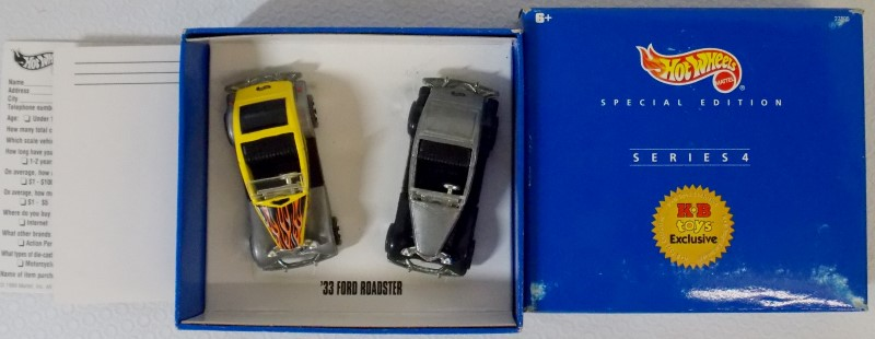 MATTEL HOT WHEELS, K-B TOYS, 4 SERIES