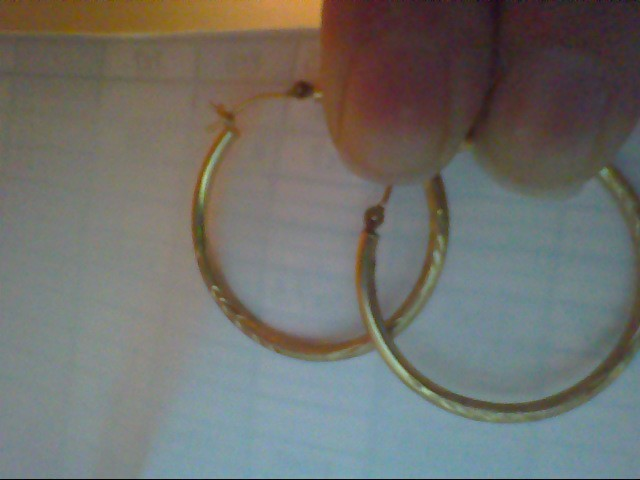 Gold Earrings 14K Yellow Gold 1.2g