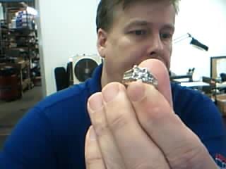 Lady's Diamond Engagement Ring 25 Diamonds 2.00 Carat T.W. 14K Yellow Gold 5.9g