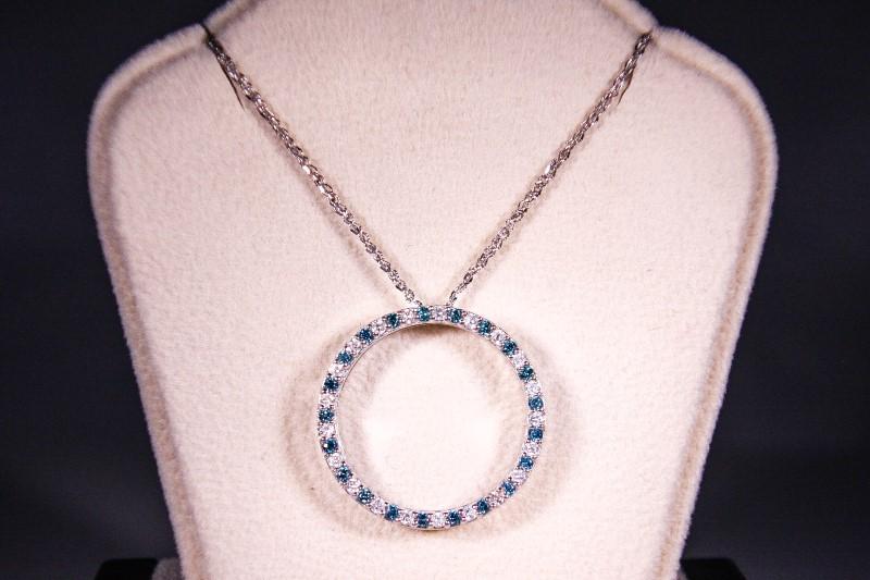"20"" Diamond Necklace 42 Diamonds .63 Carat T.W. 18K White Gold 5.5g"