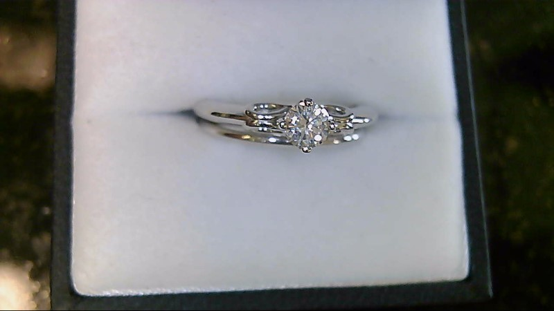 new lady's 14kwg .35ct rd (h-SI2) diamond wed set