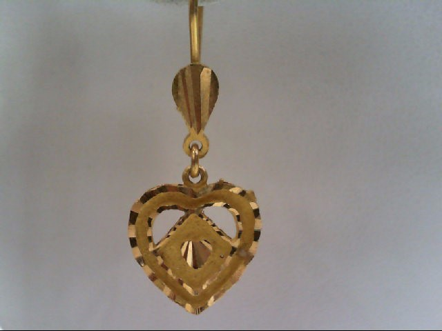 Gold Earrings 18K Yellow Gold 3.8g
