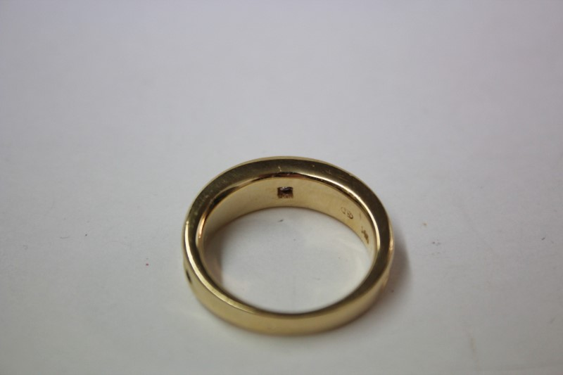 Gent's Diamond Solitaire Ring .26 CT. 14K 2 Tone Gold 10.2g Size:9.5