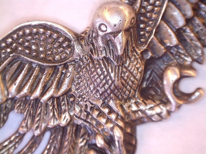 "Silver Eagle 3"" Pendant & 18"" Rope Chain 925 Silver 17.37dwt"