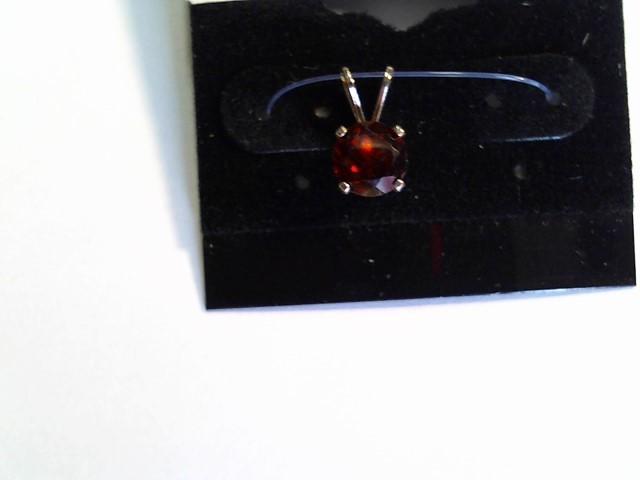 Almandite Garnet Silver-Stone Pendant 925 Silver 0.75g