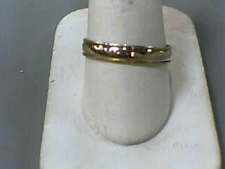 Gent's Gold Wedding Band 14K Yellow Gold 1.6dwt Size:10.5
