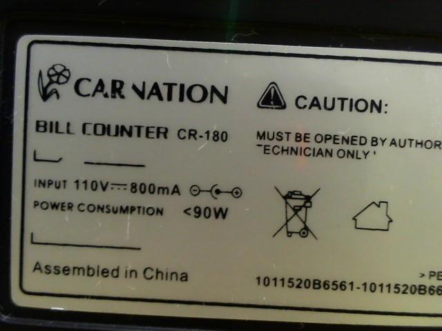 CARNATION ELECTRONICS Calculator BILL COUNTER CR-180