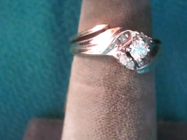 Lady's Diamond Wedding Set 11 Diamonds .22 Carat T.W. 14K Yellow Gold 2.4dwt