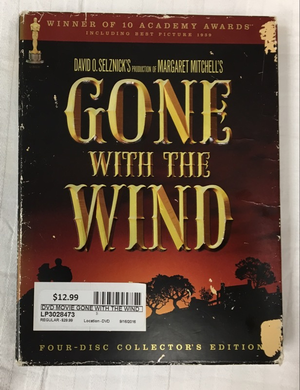 DVD MOVIE GONE WITH THE WIND (4 DISK COLLECTOR EDITION 2004)