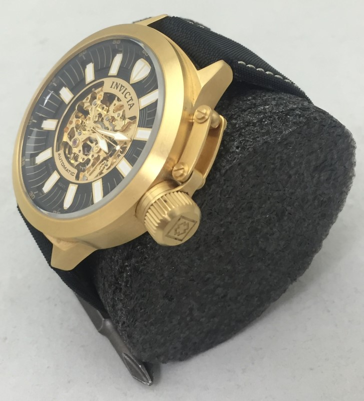 Men's Invicta Signature Collection Corduva Gold Plate Automatic 7136 Wrist Watch