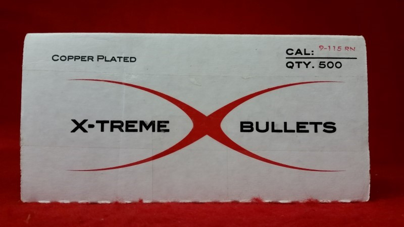 X-Treme Bullets - 9mm - 115gr - 500ct Box of Projectiles