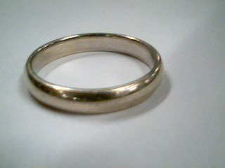 Gent's Gold Wedding Band 14K White Gold 5.2g Size:11.8