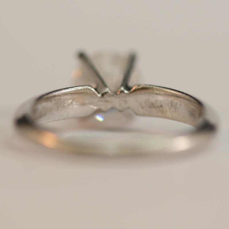 Platinum Round Brilliant Cut Diamond Solitaire Ring Size 4.75