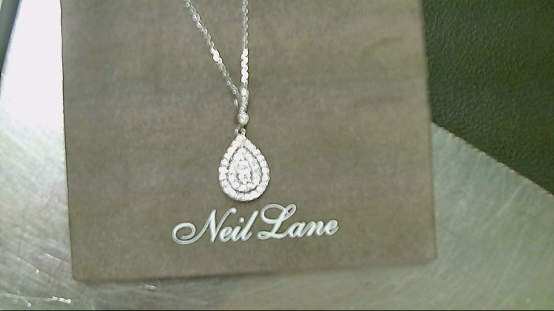 Diamond Necklace 37 Diamonds 1.97 Carat T.W. 14K White Gold 4.7g