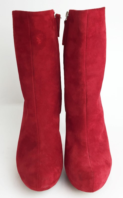 GIUSEPPE ZANOTTI RED SUEDE ANKLE BOOT SIZE 7