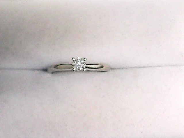 Lady's Diamond Solitaire Ring .15 CT. 14K White Gold 1.1dwt