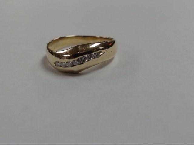 Gent's Gold-Diamond Wedding Band 7 Diamonds .70 Carat T.W. 14K Yellow Gold 3.4g