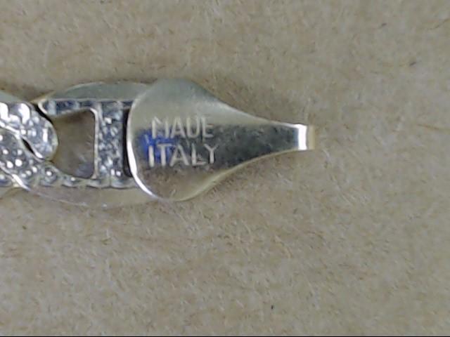 """VINTAGE ANCHOR MARINER LINK BRACELET SOLID 10K GOLD ITALY MENS 9.5"""""""