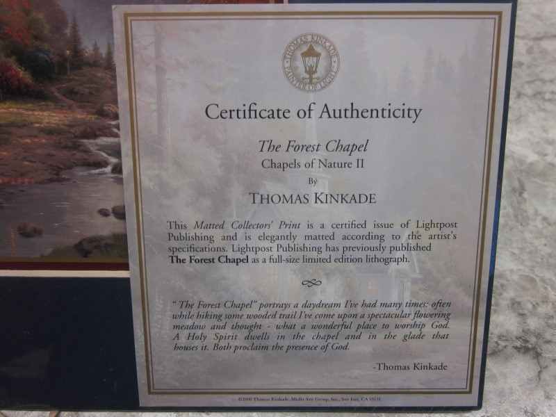 THOMAS KINKADE: THE FOREST CHAPEL ~ CHAPELS OF NATURE II