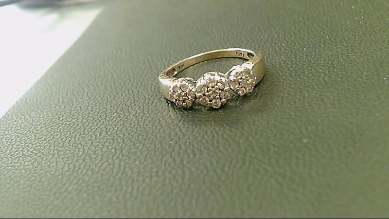 Lady's Diamond Cluster Ring 21 Diamonds .42 Carat T.W. 10K Yellow Gold 3g