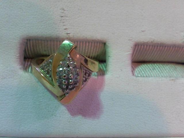 Lady's Diamond Fashion Ring 20 Diamonds .20 Carat T.W. 10K Yellow Gold 2.8g