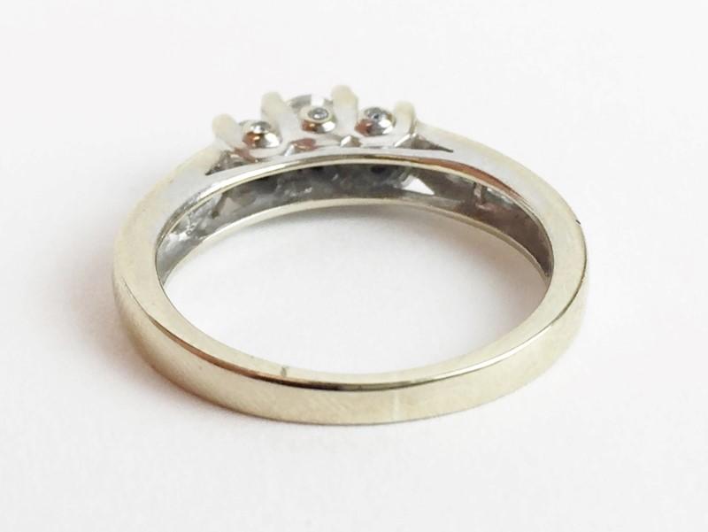 3 Diamonds .50 Carat T.W. 14K White Gold 3.43g Ring