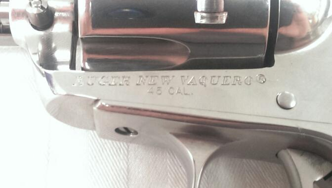 """Ruger - New Vaquero - .45 LC - Stainless 5.5"""" Barrel"""