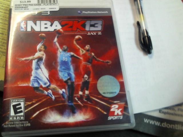 SONY PS3 NBA 2K13