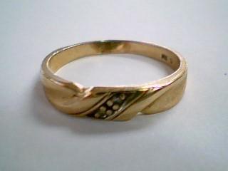 Lady's Diamond Engagement Ring 2 Diamonds .02 Carat T.W. 14K Yellow Gold 2.4g