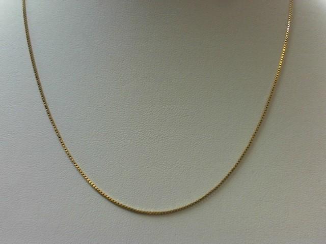 "20"" Gold Box Chain 18K Yellow Gold 3.5g"