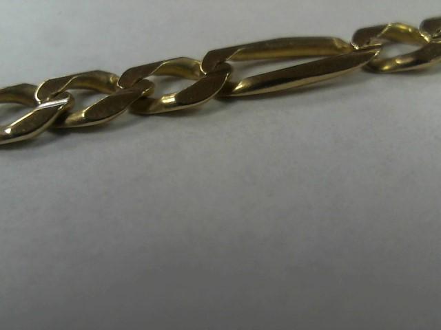 """22"""" Gold Figaro Chain 14K Yellow Gold 15.7g"""