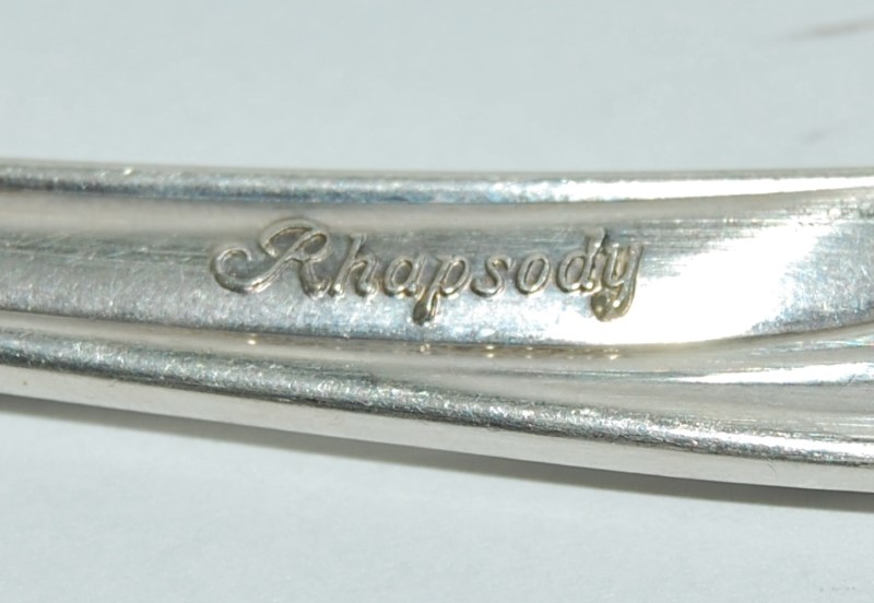International Silver Co. Rhapsody Solid Sterling Cold Meat Fork 9""