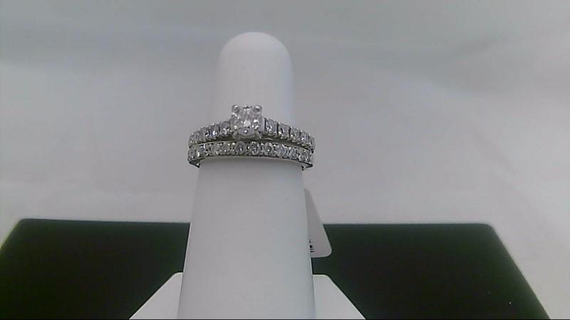 Lady's Diamond Wedding Set 24 Diamonds .67 Carat T.W. 14K White Gold 4.6g