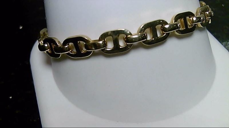 "8"" Gold Anchor Bracelet 14K Yellow Gold 7.6g"