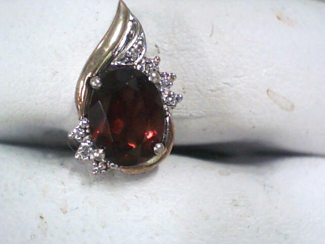 Red Stone Silver-Stone Pendant 925 Silver 1dwt