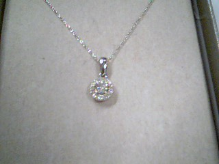 "20"" Diamond Necklace 12 Diamonds .26 Carat T.W. 10K White Gold 0.7g"