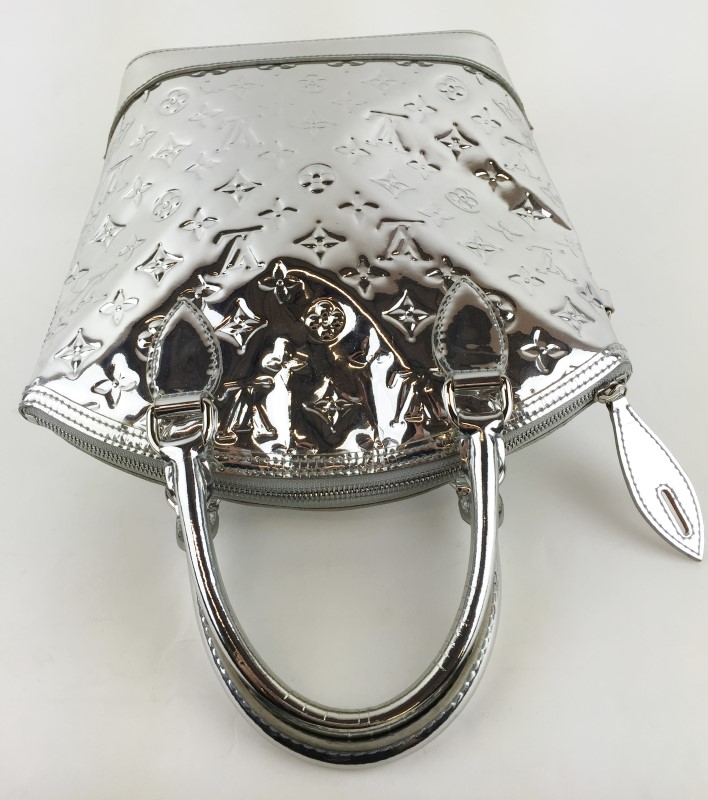 Louis Vuitton Limited Edition Silver Monogram Miroir Lockit Bag
