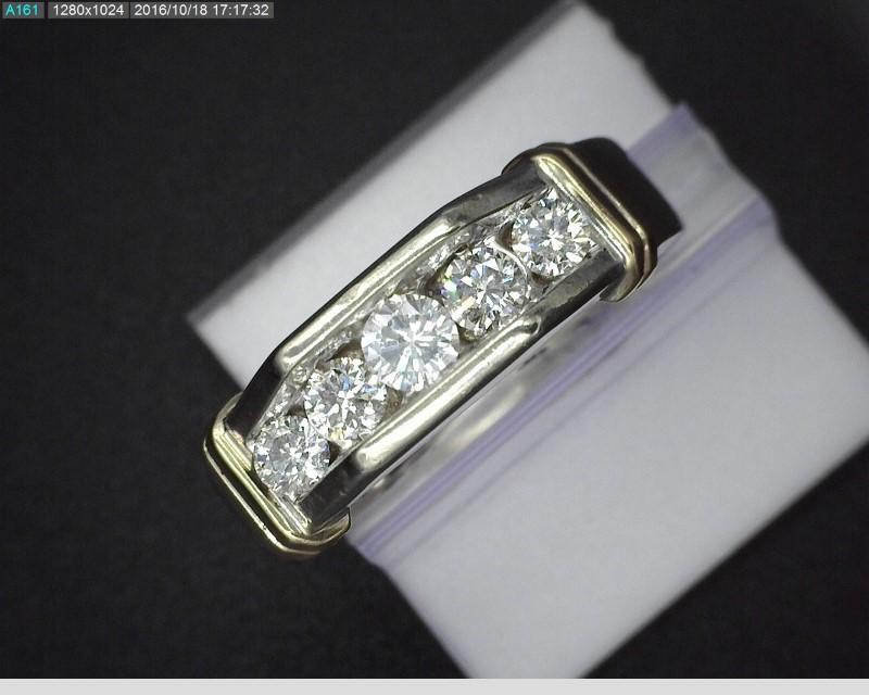 MEN'S TWO TONE DIAMOND RING APX.69CTW 10.3G SZ10.25