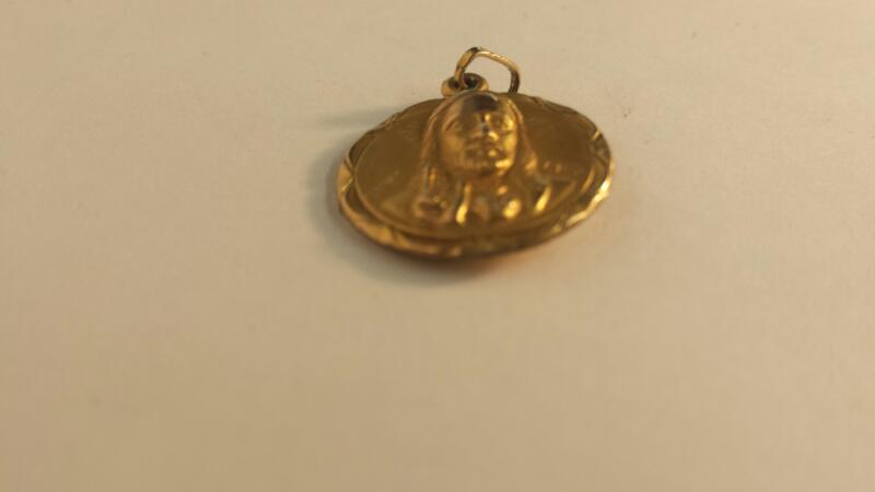 10K-Y/G Religous Pendant (Jesus One Side, Madonna The Other)