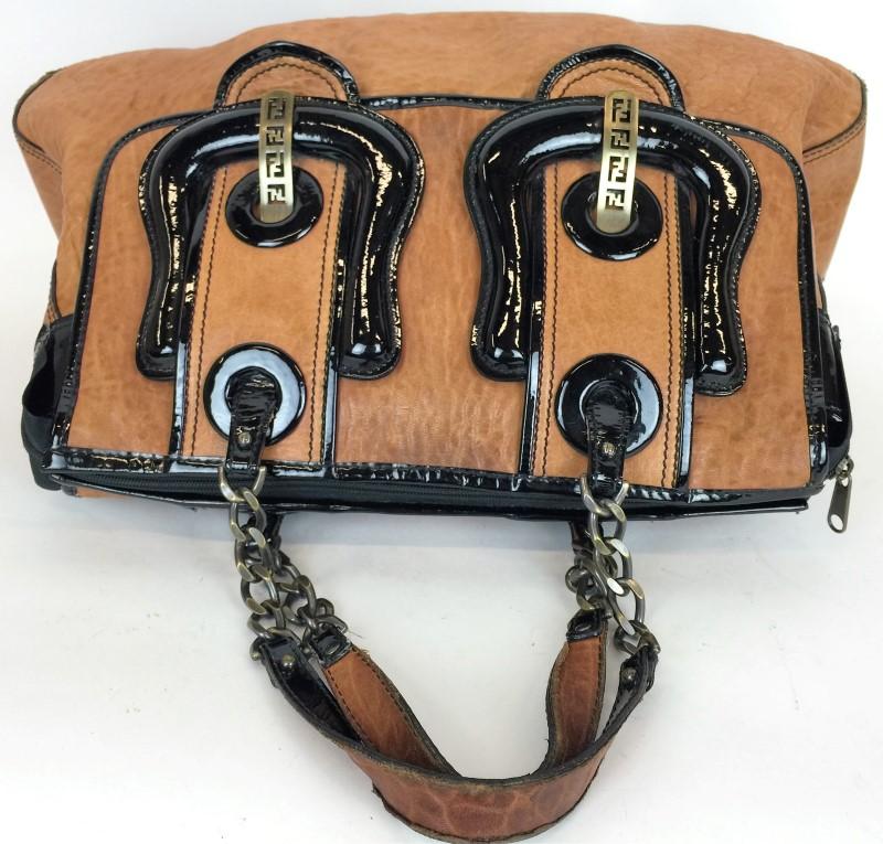 458505969792 fendi handbags outlet - FENDI NAPPA VERNICE PATENT LEATHER B BAG Acceptable