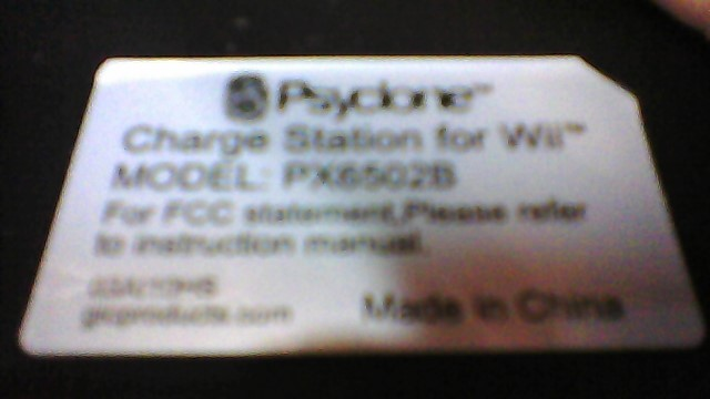 AS-IS Psyclone Charging Station Wii Cordless PX6502B