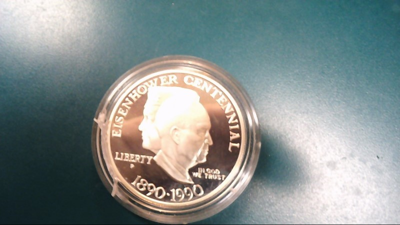 UNITED STATES Silver Coin 1890-1990 EISENHOWER CENTENNIAL SILVER DOLLAR