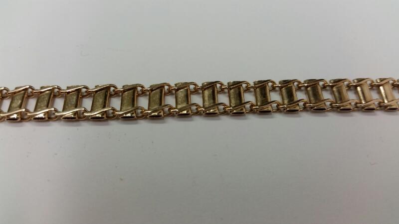 """10K-Y/G 9"""" Fashion Bracelet"""