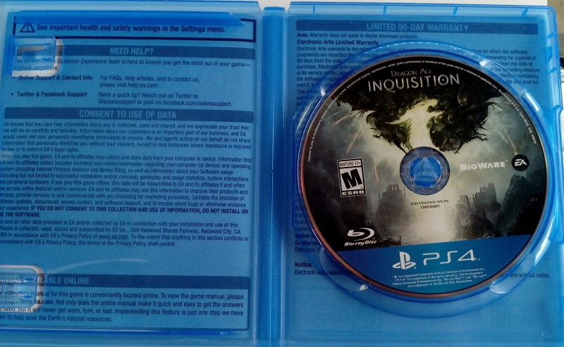 SONY PLAYSTATION 4 PS4 DRAGON AGE INQUISITION