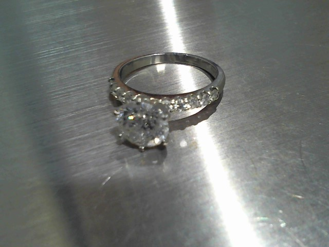 Lady's Platinum-Diamond Ring Guard 9 Diamonds 2.40 Carat T.W. 950 Platinum 5.2g